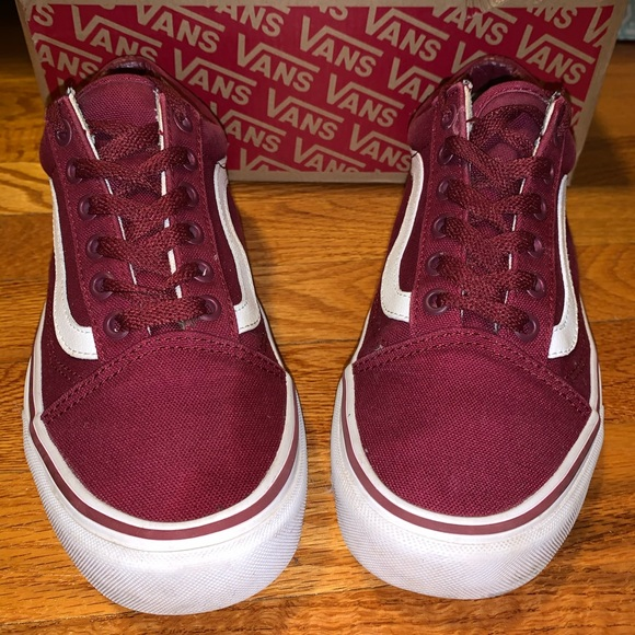 vans old skool maroon original